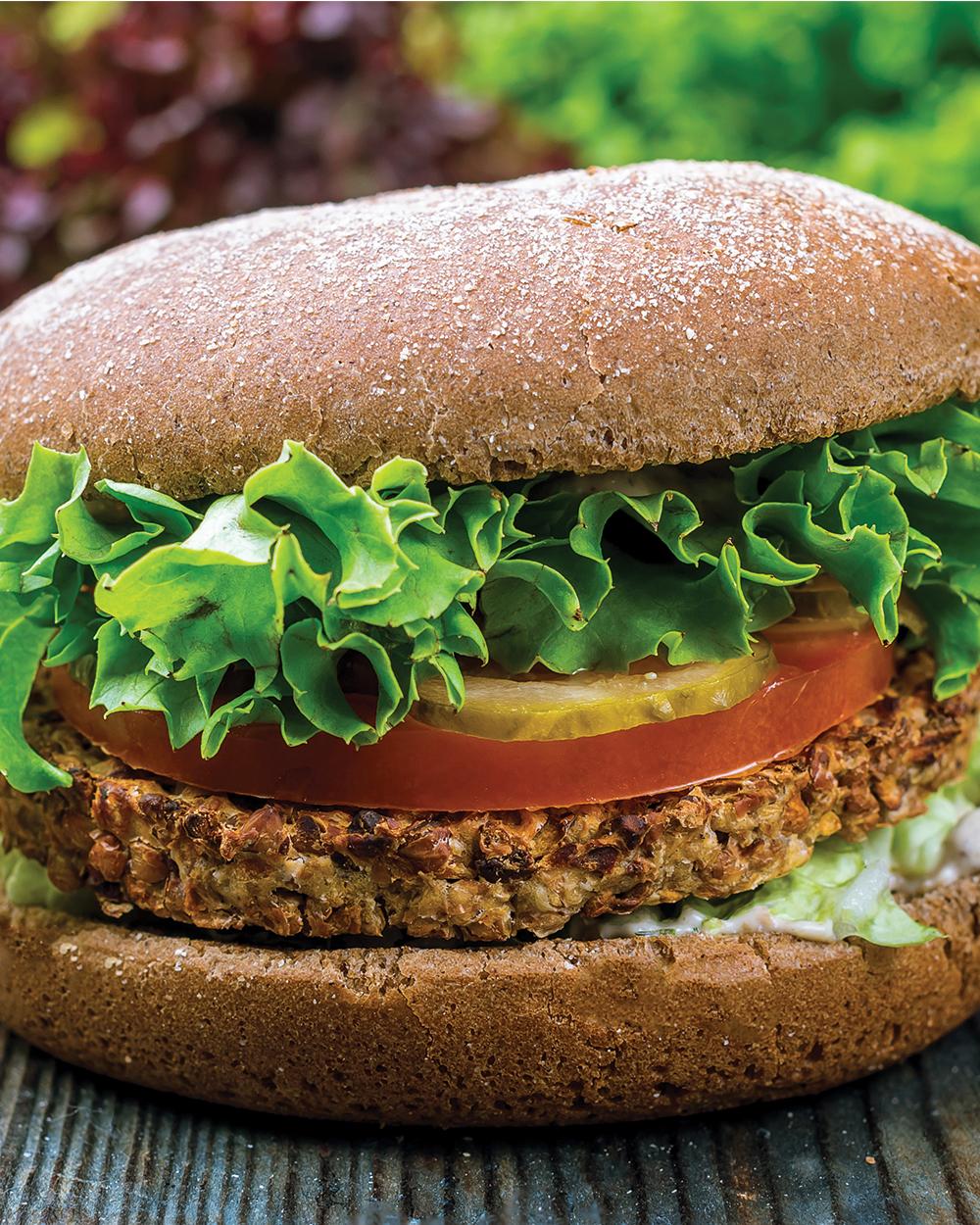 Black Bean Veggie Patty Burgers